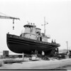 Last tug launching, 1954