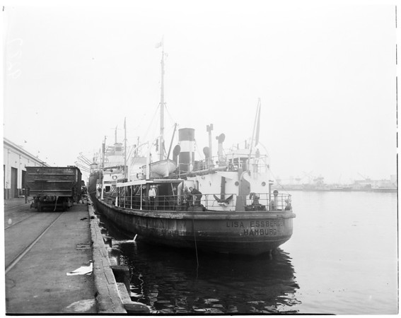 First German ship in port, 1951