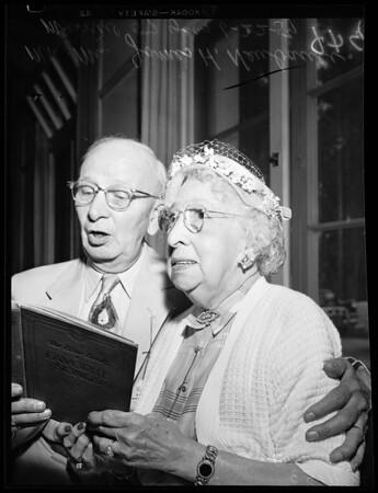 Golden wedding anniversary party, 1954