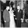 Bishop Baker service at Redlands, 1952