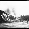 Bridge fire, San Gabriel & Rio Hondo River, 1952