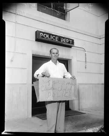 Police Station picket (Santa Monica), 1952