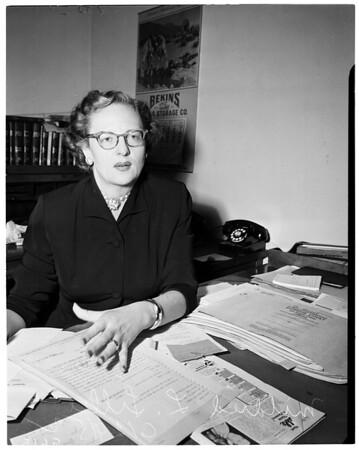 Judge Mildred L. Lillie, 1952
