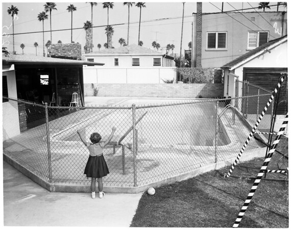 Swimming pool safety layout, 1954