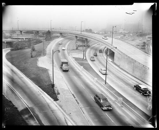 Freeway negatives, 1955