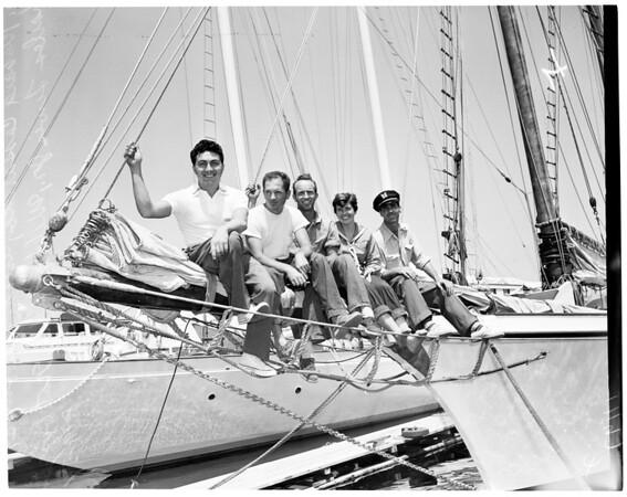 """Around the world Cruise (Yacht """"California""""), 1954"""