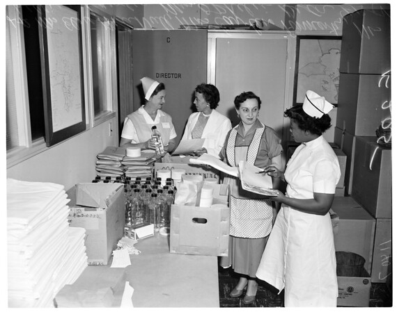 Los Angeles County vaccine kits, 1955