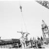 Harbor tugs being built, 1952