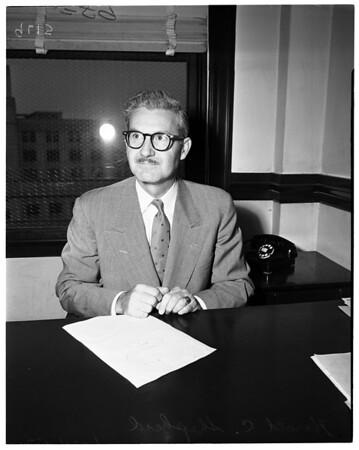 New municipal judge, 1952