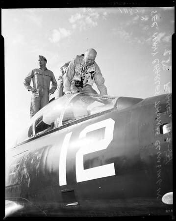 Secretary of Navy Charles Thomas at El Toro Marine Base, 1954