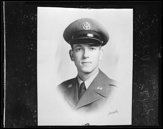Killed in plane crash near Burbank, 1954
