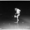 Novice catches grunion, 1952