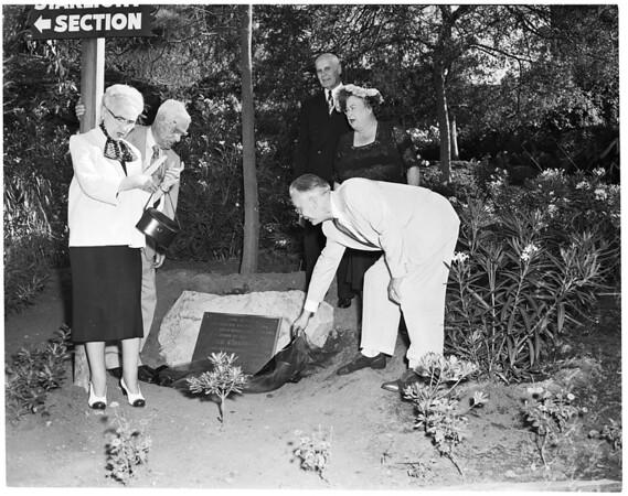 Hugo Kirchhoffer plaque at Hollywood Bowl, 1954