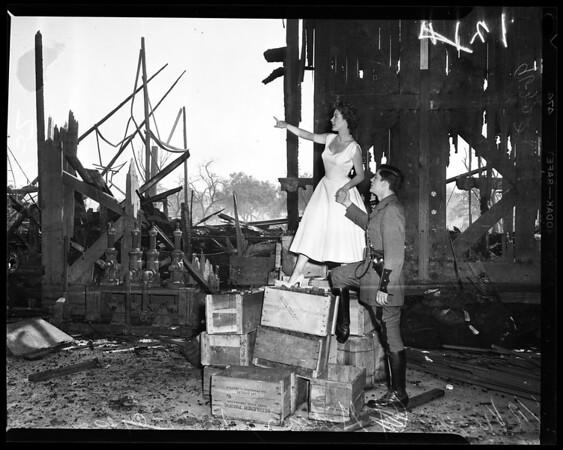Arson investigation of Warner Brothers fire (Burbank studios), 1952