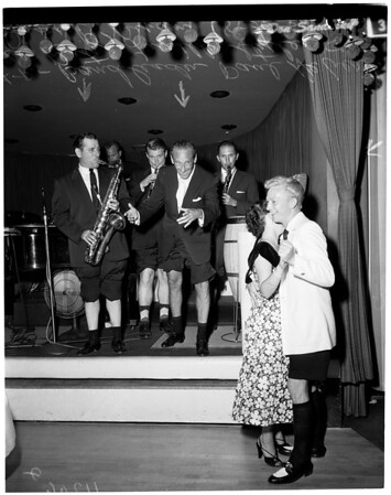 Bermuda shorts make debut on Sunset Strip at Mocambo, 1954