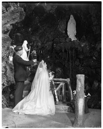 "Peace Pilgrimage to Shrine of ""Grotto of Lourdes"", Saint Elizabeth's Church, Altadena, 1952"