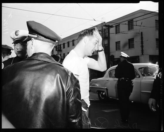 Love shooting victim, 1954