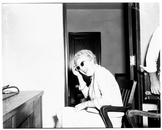 Witness in bribery case, 1954