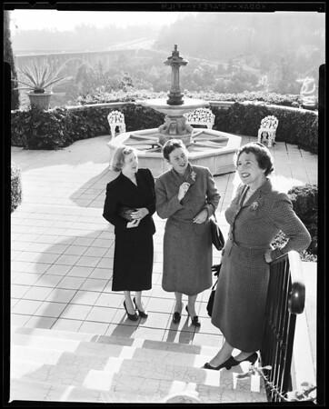 Hathaway home -- tea, 1957