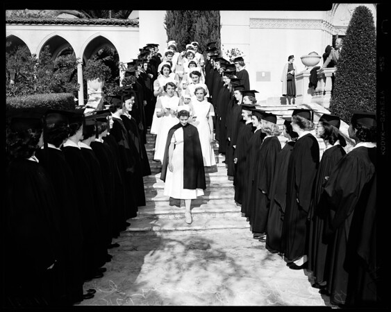 Universities: Mount Saint Mary's College (Nurse capping ceremony), 1954