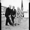 Ground breaking for new City National Bank (Beverly Hills), 1954
