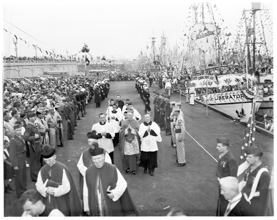 Fisherman's fiesta in San Pedro, 1951