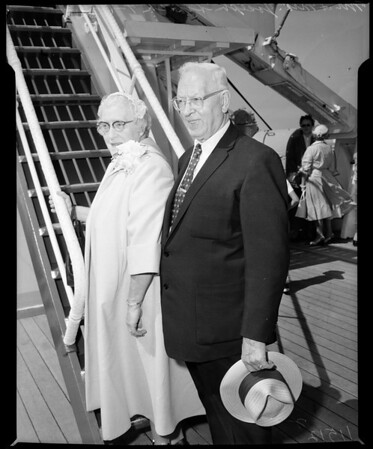 Mr. and Mrs. Joseph Smith (Church of Latter Day Saints President council of 12 apostles), 1955