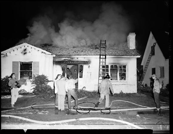 Fire at 4210 Palmero Boulevard, 1952