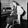 Amnesia victim at Central Police Station, 1954