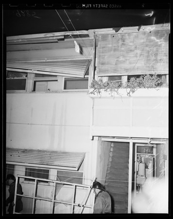 Attempt suicide and explosion, 219 1/2 South Catalina, 1951
