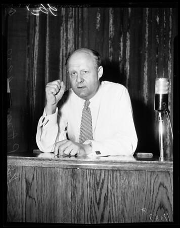 Civil defense meeting, 1954