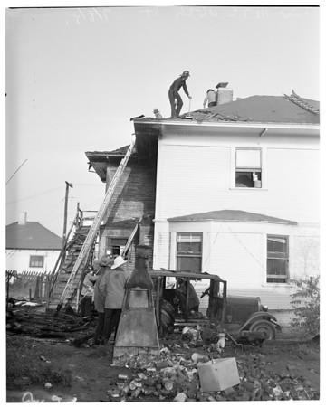 Fireman burned, 1951
