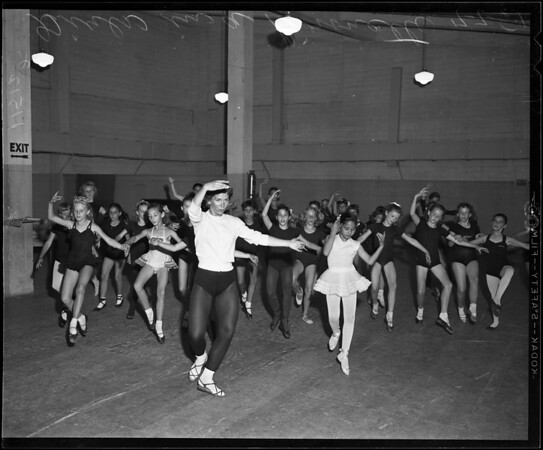 Ballet tryouts for Greek Theater, 1955