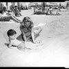 Beach pictures, Will Rogers State Beach, 1952