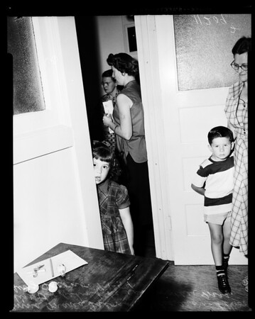 School registration (San Pedro), 1954
