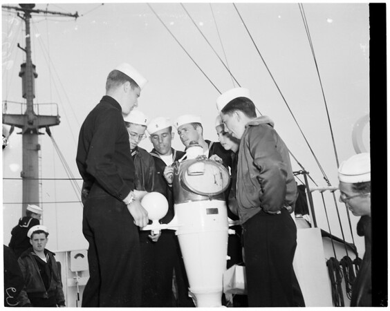 "Merchant marine officer's training ship ""Golden Bear"", 1952"