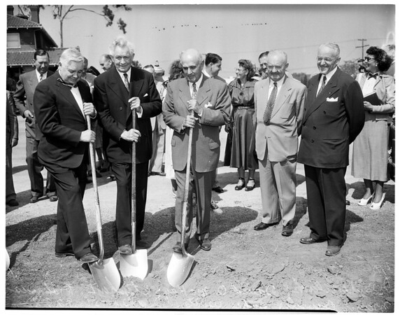 Mormon Temple groundbreaking, 1951