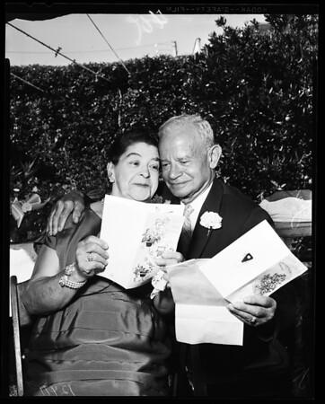 Sixtieth wedding anniversary and golden wedding, 1958