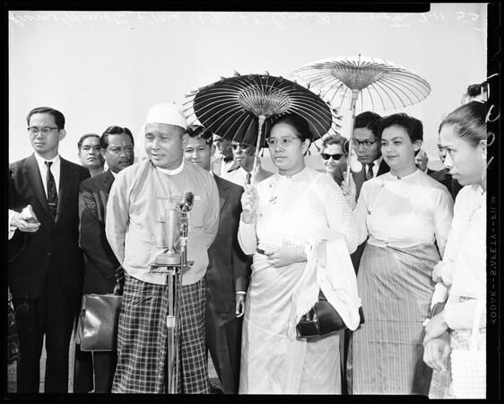 Burma premier, 1955