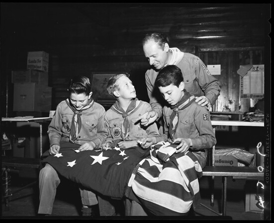Troop 58 Boy Scouts flag to be presented to Alaska, 1959