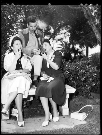 Pipe smoking contest (Long Beach), 1952