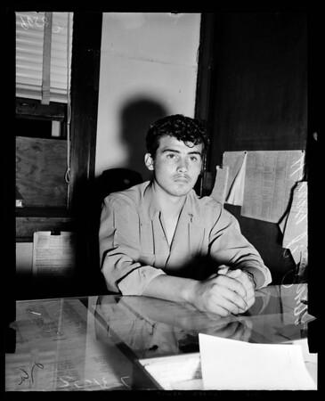 Baptist's nephew, 77th Street Police Station, 1952