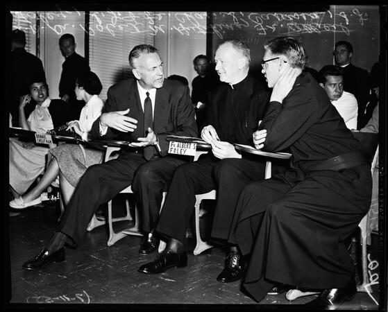 Dr. Hutchins at Loyola Workshop, 1955