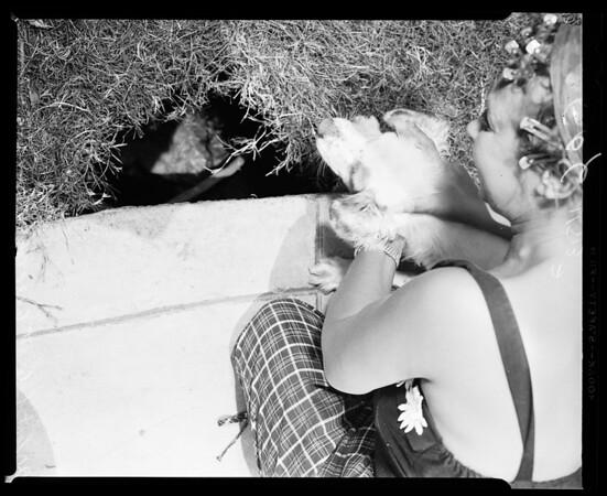 20 foot hole at 6131 Afton, 1955