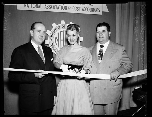 7th Annual Southern California business show at Biltmore, 1954