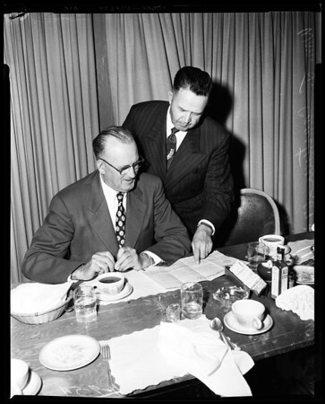 Shipbuilder retires, 1954