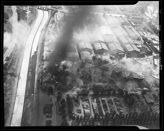 Warner Brothers fire, 1952