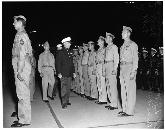 5th Annual military inspection, Los Alamitos Naval Air Station, 1951