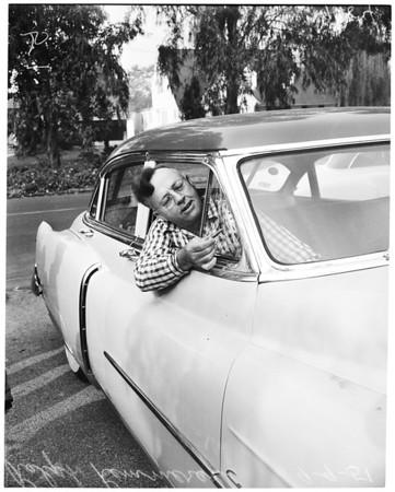 Machine gun bullets hit Long Beach homes, 1951