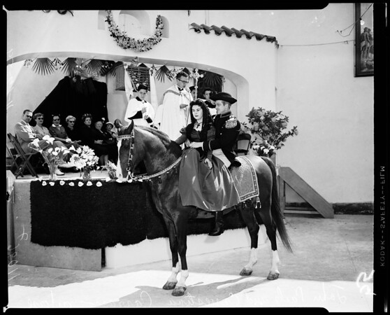 Benediction of animals (Olvera street), 1954